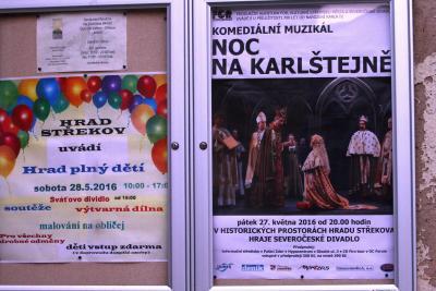 Noc na Karlštejně - open air představení na Střekově 2016