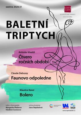 Baletní triptych - plakát